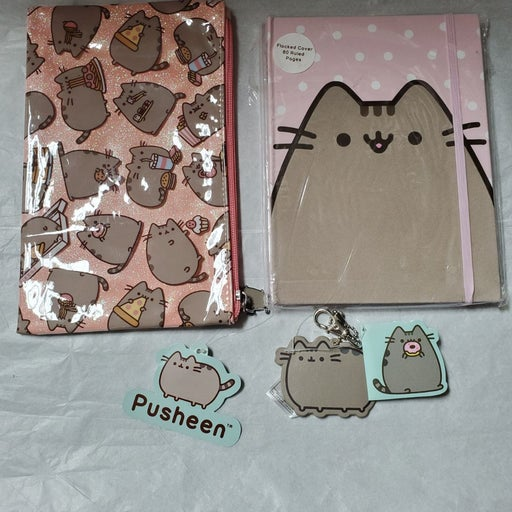 Pusheen Notebook, Pouch and keychain
