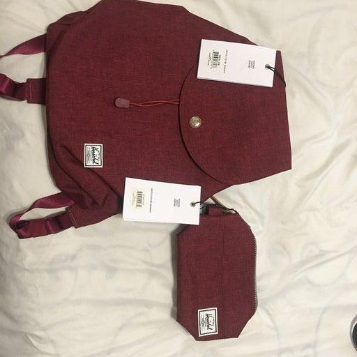 Herschel Backpack with bonus travel bag NEW