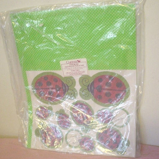 NIP Current Lady Bugs Gift Wrap Seals