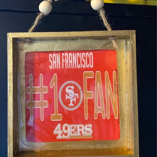 San Francisco 49ers #1 Fan Wall Hanging /Tray