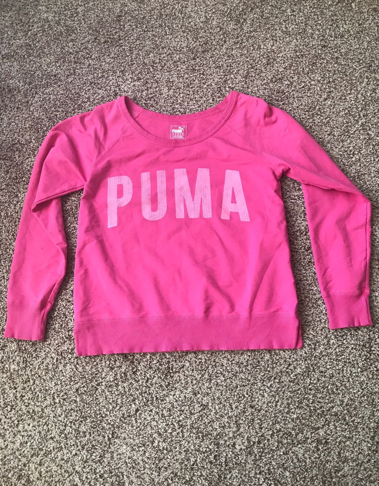 Pink Puma Sweatshirt Women's Medium