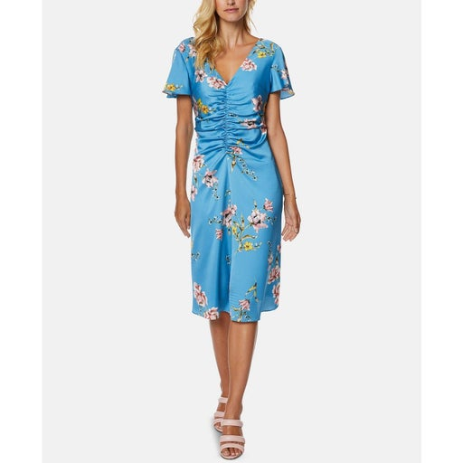 Avec les Filles Ruched Floral Dress 10