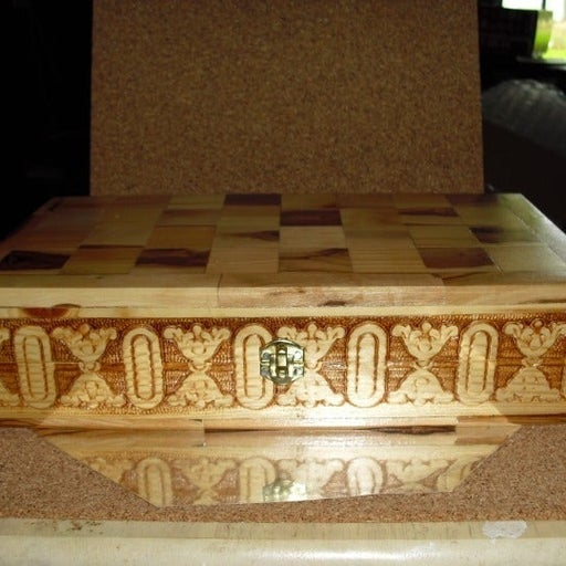 Beautiful Solid Wood Carved Gaming Box