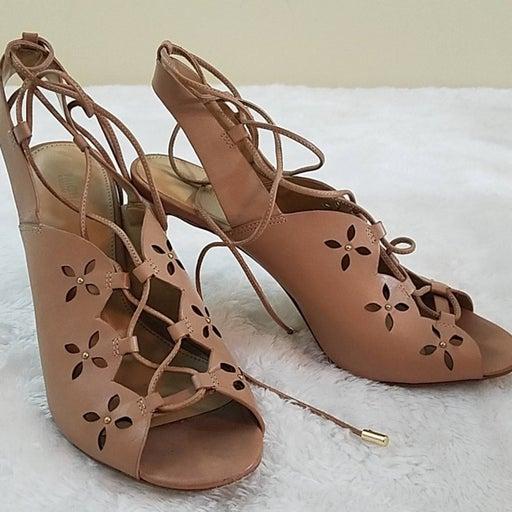 Michael Kors Sz 7 Thalia Leather Sandals