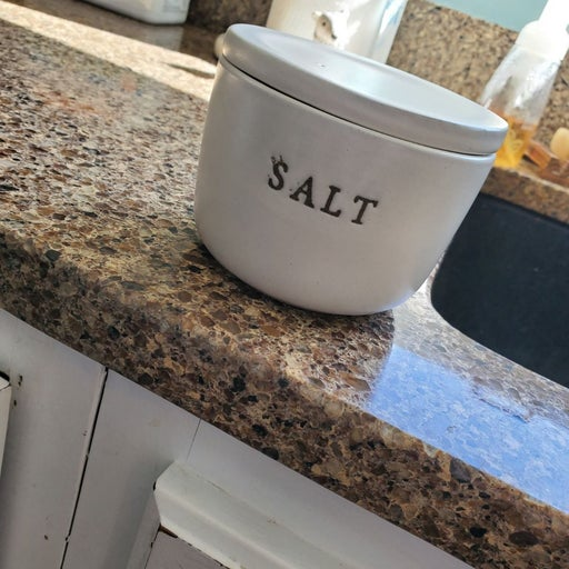 Stoneware Salt Celler- Hearth & Hand wit