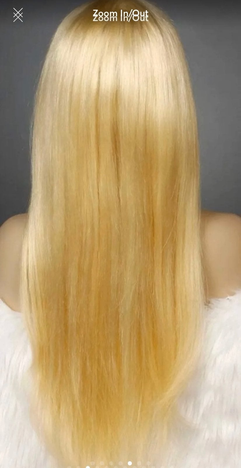 Blonde 100% Human Hair Toupee/ Topper