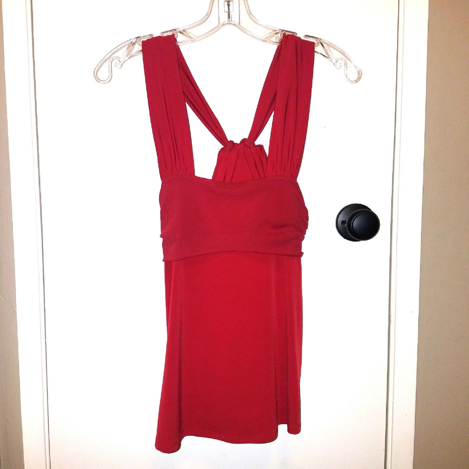 Romantic Red Knotted Tank