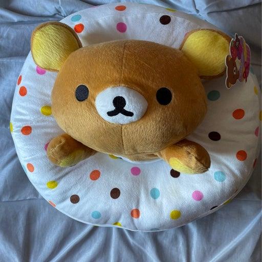 rilakkuma plush bear in donut