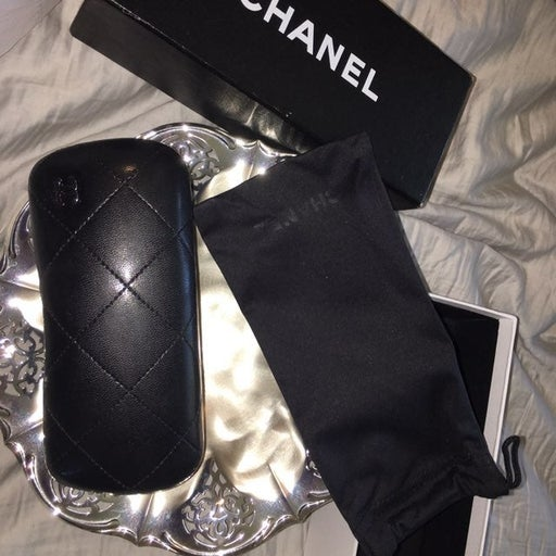Chanel quilted eyeglass/sunglass cases