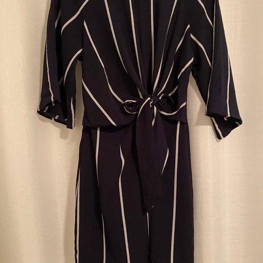 AX Paris Striped Navy Dress