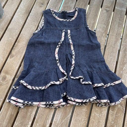 Dress Burberry denim 3/6 months sleveless