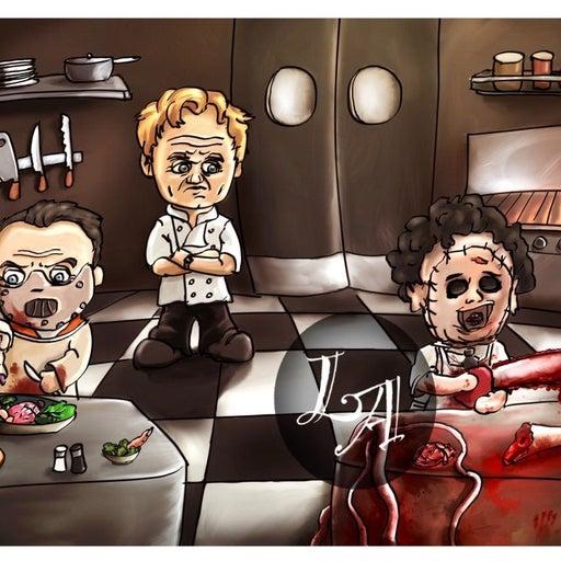 Kitchen Nightmares Art Print