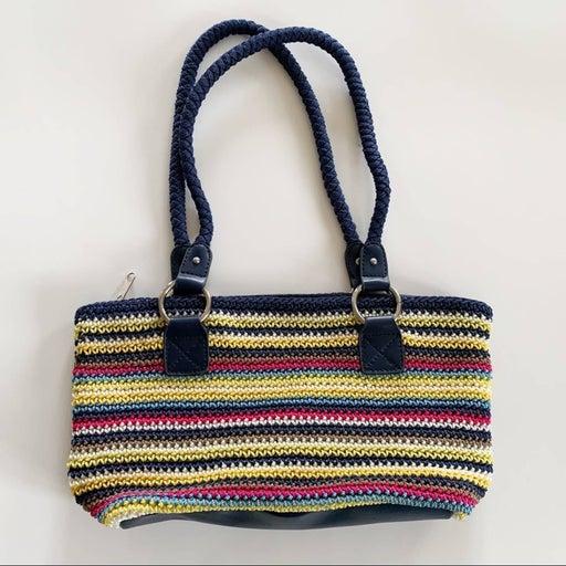 Croft & Barrow Woven Shoulder Bag, Blue Red Yellow