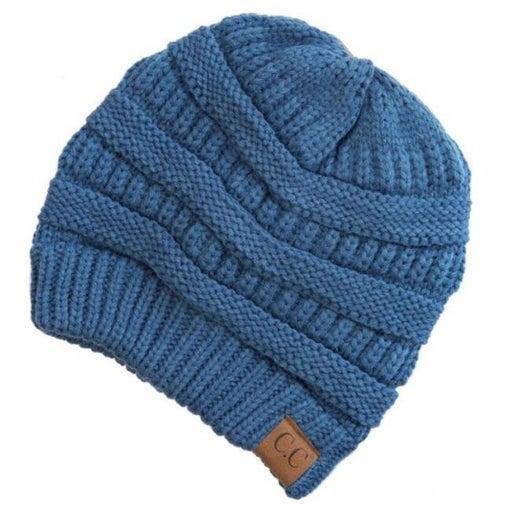 CC CLASSIC Knit Beanie Hat (Denim)