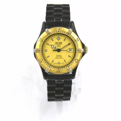 Womens Tag Heuer 18k & Steel Black Pvd Coated Diver Watch
