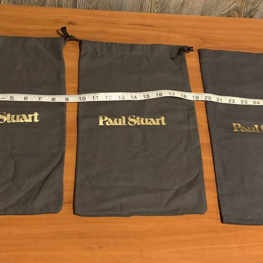 Lot 3 Empty Paul Stuart Dustbags Shoes