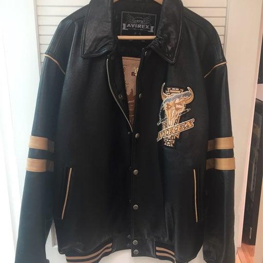 Leather Avirex mens jacket