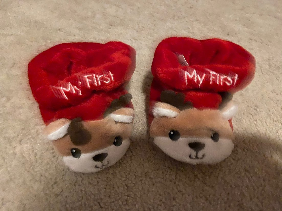 My first christmas slippers 1-2