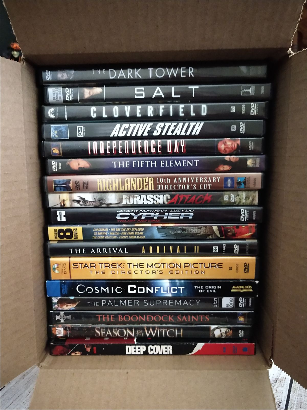 Lot of 17 GREAT Sci-Fi/ACTION DVD movies