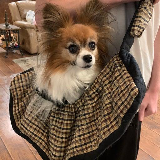 Handmade small dog/pet sling carrier