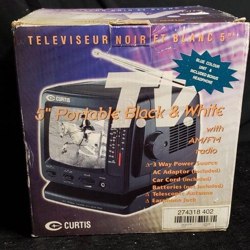 "NEW Curtis  5"" Portable Black & White TV"