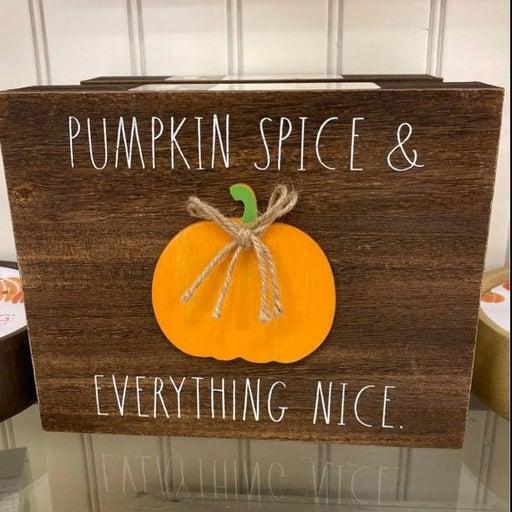 Rae Dunn Pumpkin Spice Decor