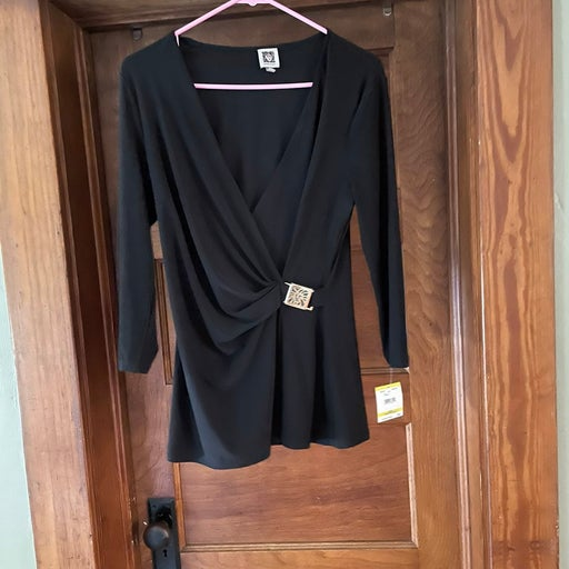 Nwt Anne Klien wrap shirt