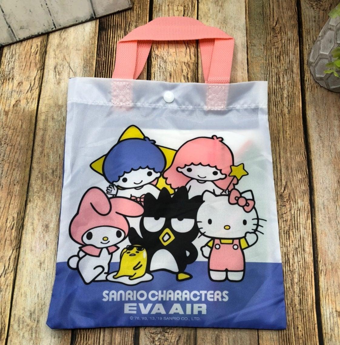 Sanrio + Eva Air tote with goodies