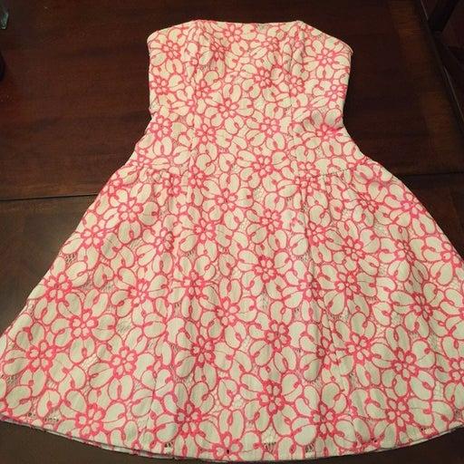 Lilly Pulitzer Strapless dress sz 0