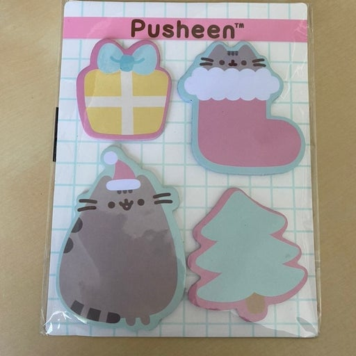 Pusheen holiday sticky notes