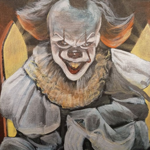 "Original Painting of clown ""IT"""