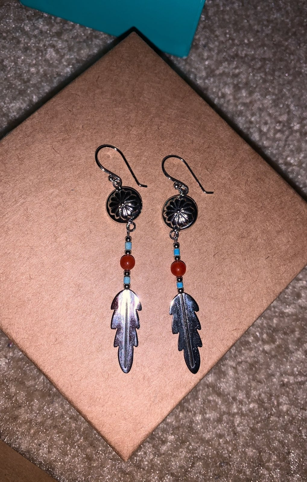 Silver earrings Native American