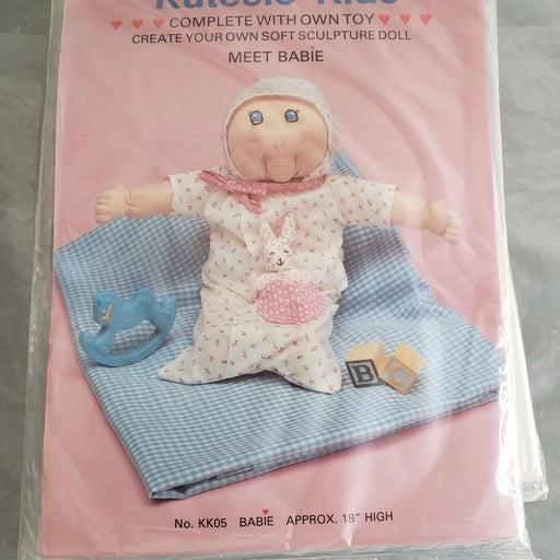 Vintage dolls craft kits plush babies