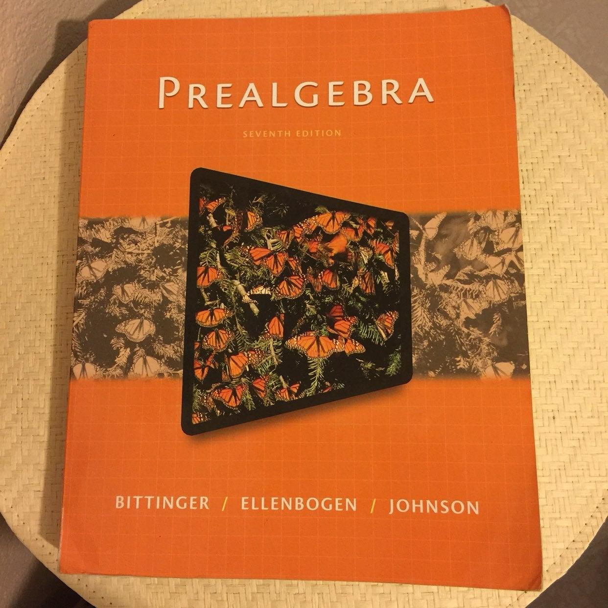 Prealgebra 7th edition Bittinger Ellenbo