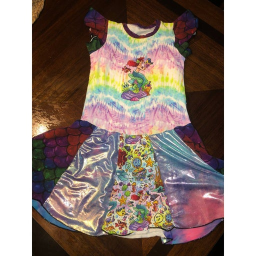 Girls size 8/9 Ariel custom dress