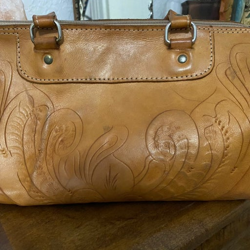 custom made leather hand bag