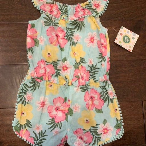 NWT Woven Floral Romper