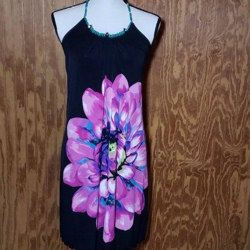 BCX floral halter dress