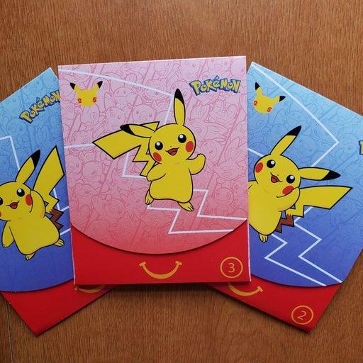 Pokemon 25th Anniversary Mcdonalds Packs