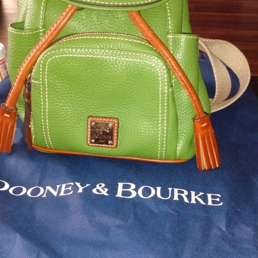 Dooney & Bourke green mini backpack