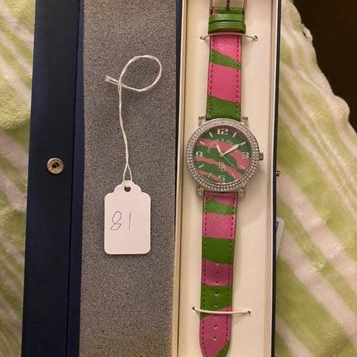 Dooney & Bourke pink green Woman's Watch