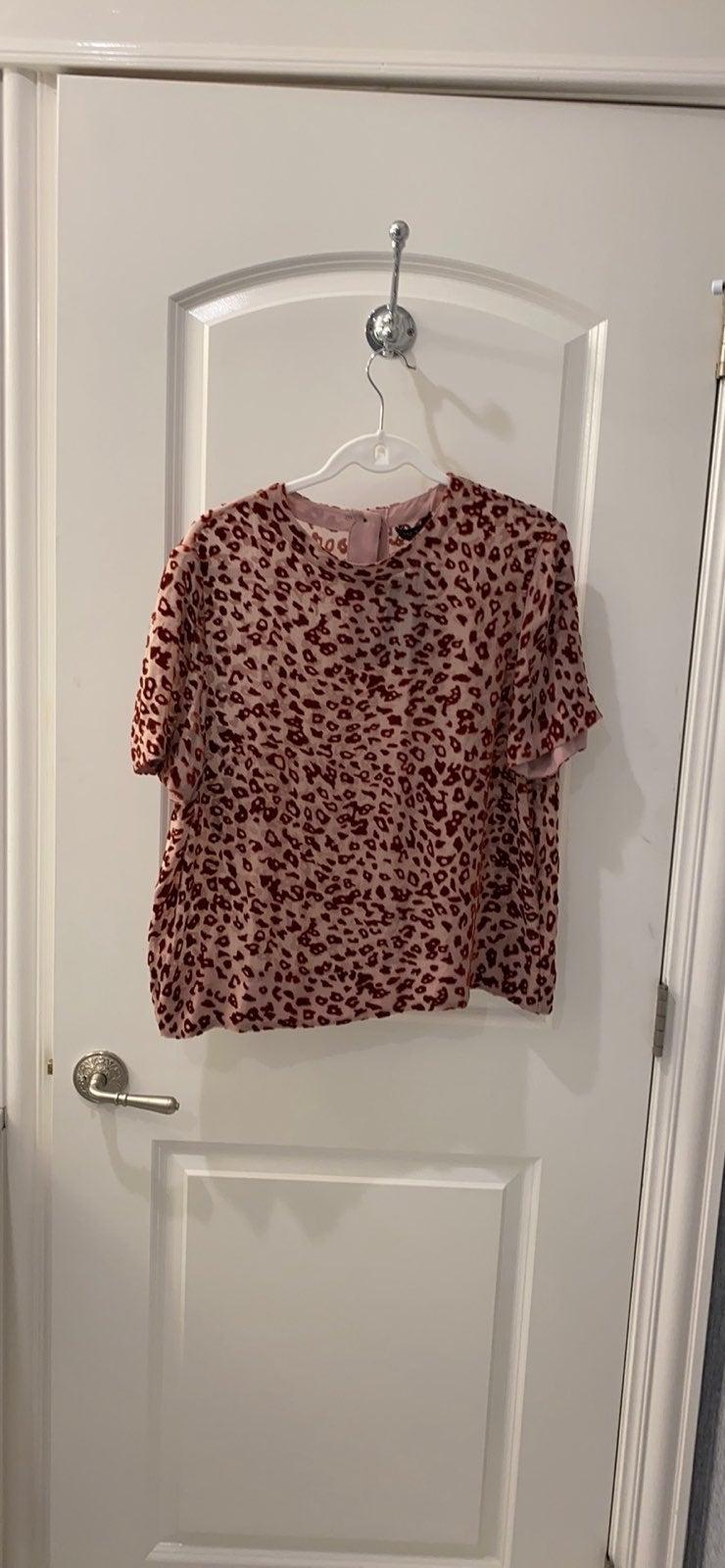 Rag and Bone Cheetah Print T-Shirt