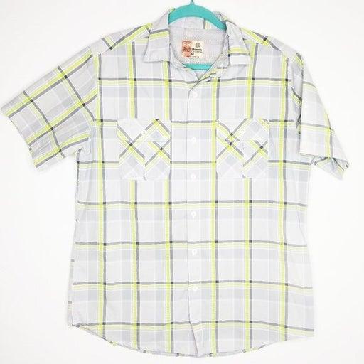 Ruff Hewn Plaid Button Front Shirt Medium