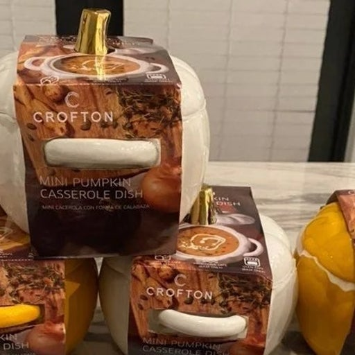Set of 4 crofton mini pumpkin casserole dish