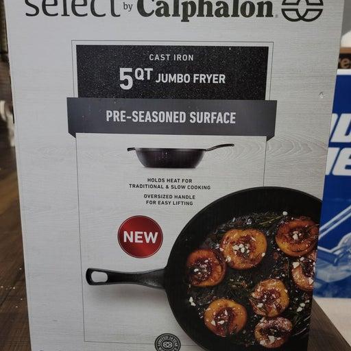 Calphalon 5qt Cast Iron Fryer