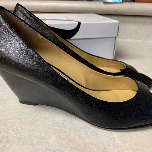 Peep toe wedge heels - size 11/42
