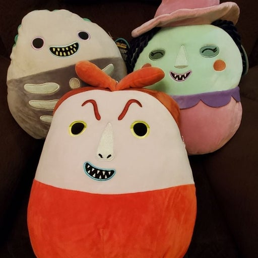 """Squishmallow Nightmare before Christmas 12"""" set of 3"""