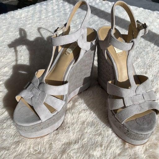 Lauren Ralph Lauren Gray Wedge Sandal