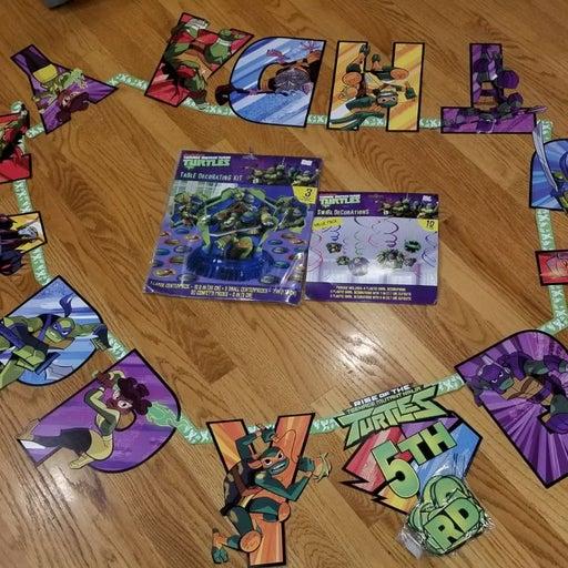 Ninja Turtle Birthday Decorations.
