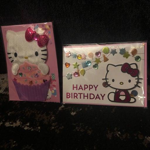 2 Hello Kitty Birthday Cards~NEW
